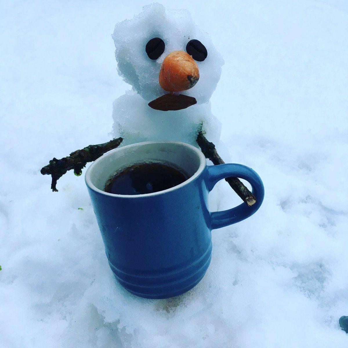 Kékekstető havazás - és egy forró kávé