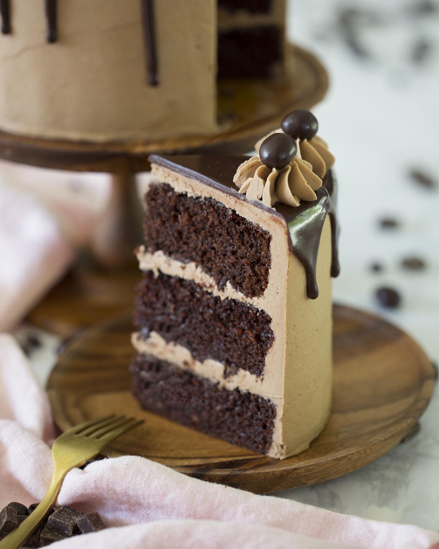 Mokka torta szelet