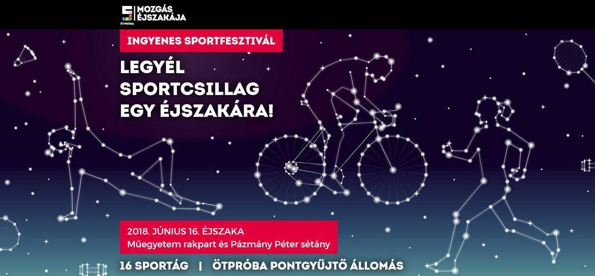 Mozgás éjszakája 2018 ingyenes sportrendezvény