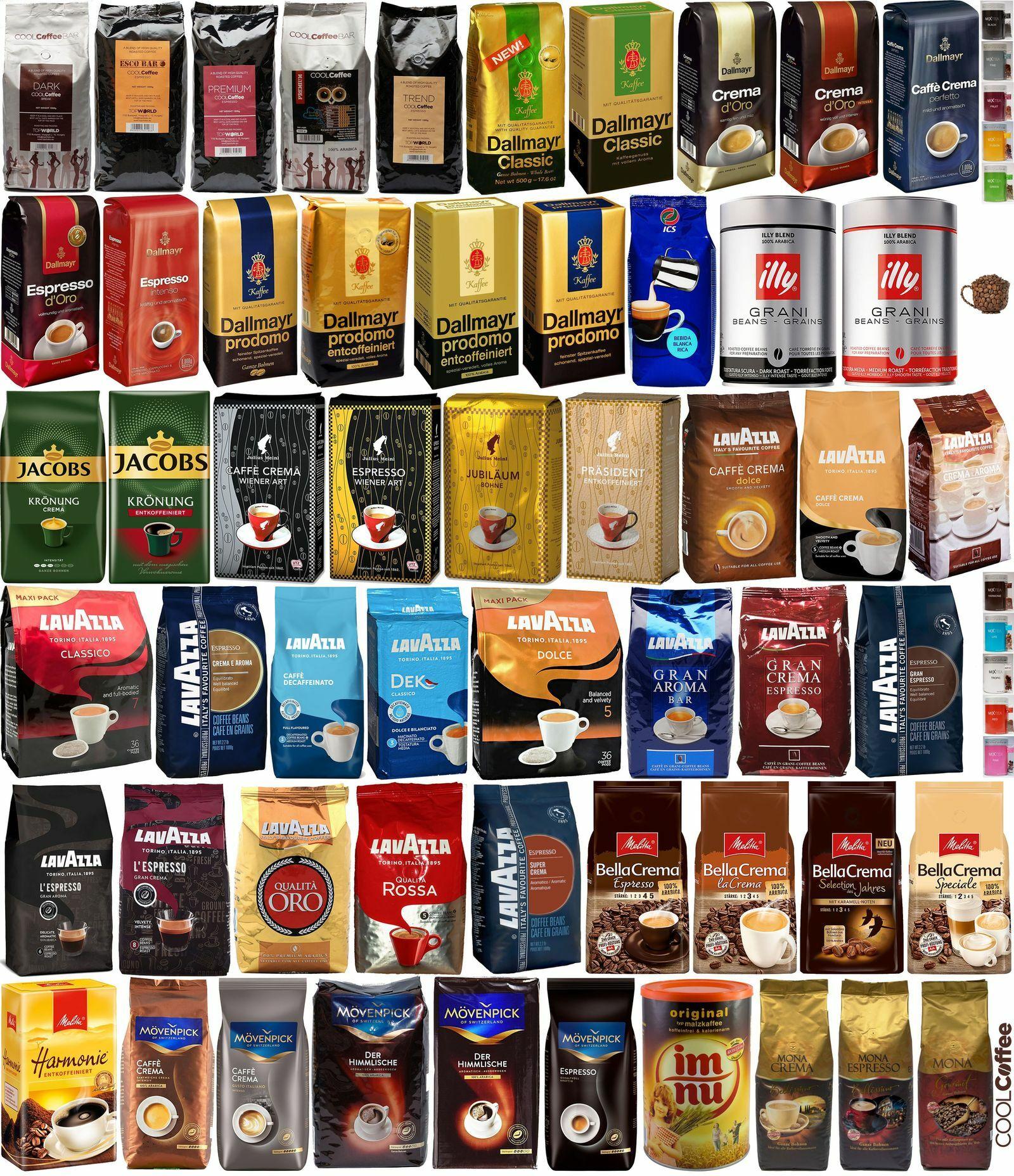 Kávékínálat ízelítő: néhány szemes kávé a palettáról... Több mint 120 féle kávé a Webshopban!