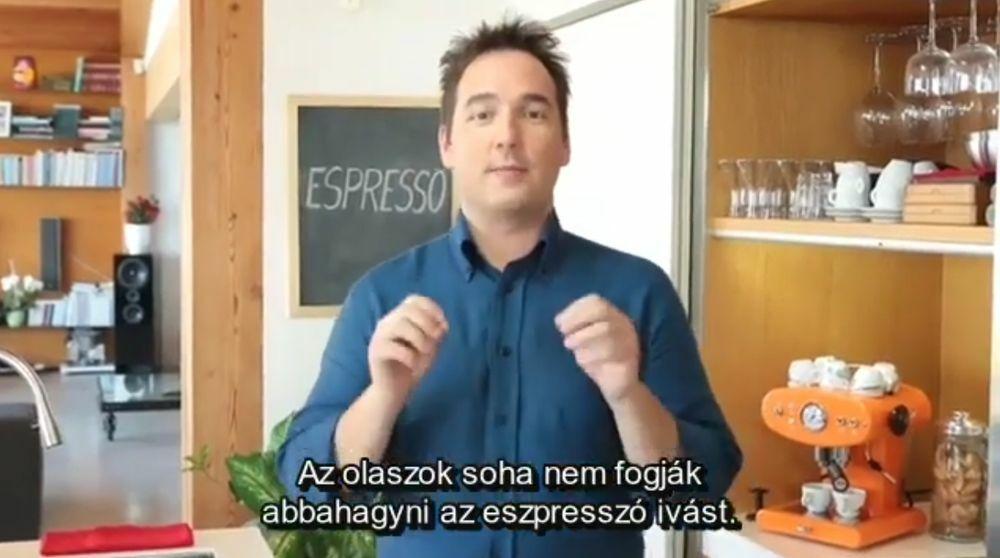 Illy Espresso készítése. A cikk végén találjátok a videót.